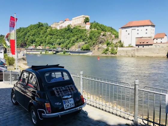 Passau/Donau mit Feste Oberhaus