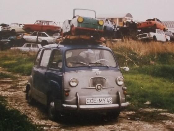 600er Karussellauto, ital. Schrottpl_1984