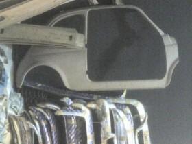 Halber Fiat an der Wand @ padua 2006