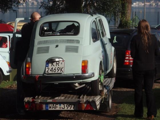 Polnischer 500er nach Martins Nachtbergung in Maroggia