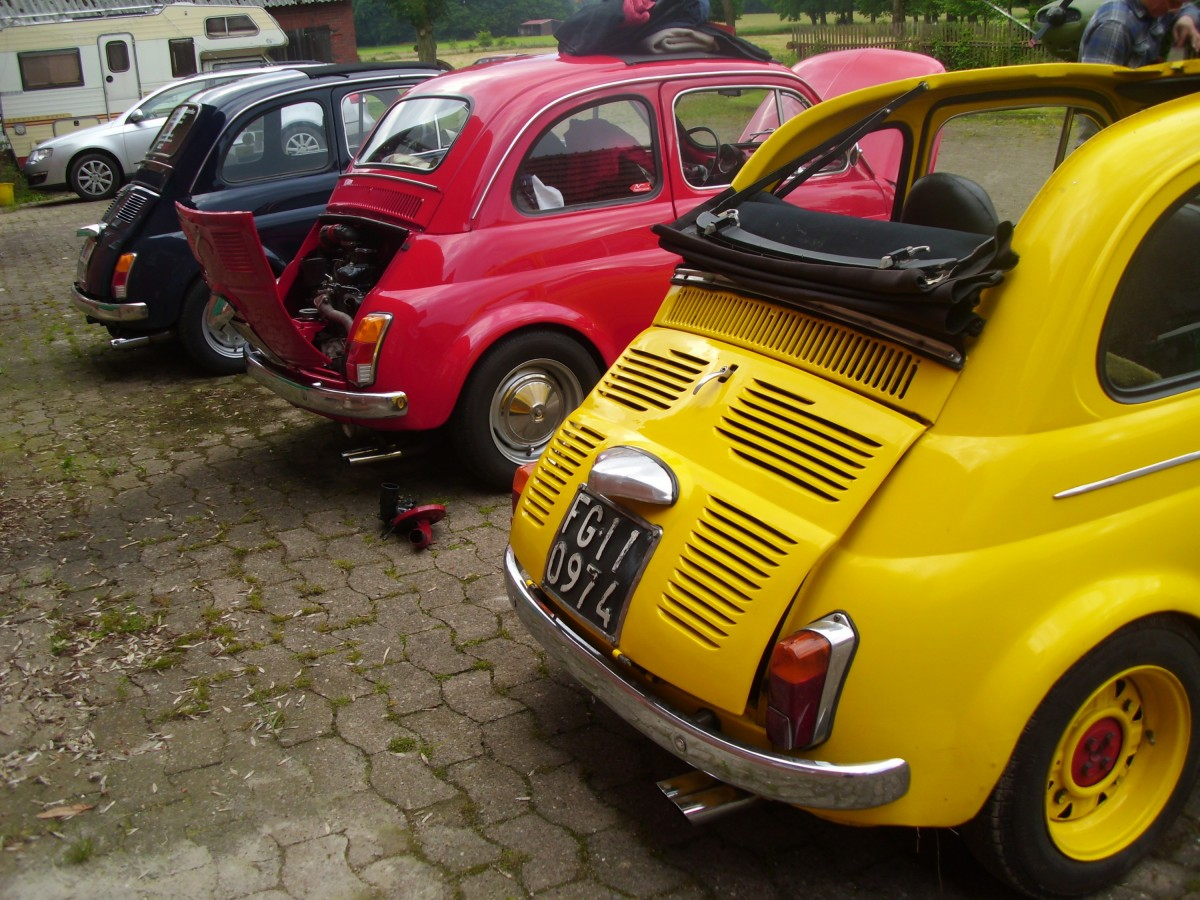 fiat 500 126 treffen 2016 bulli hof bilder fiat 500 forum. Black Bedroom Furniture Sets. Home Design Ideas