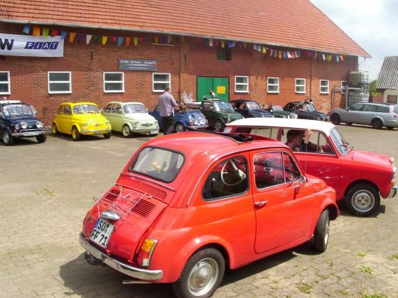 Fiat 500 / 126 Freunde Treffen in Neuenknick / Bull-Hof