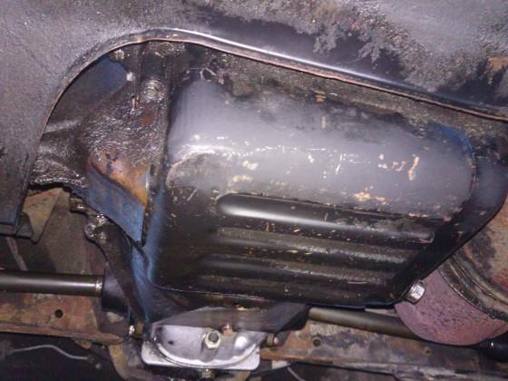 Motor von unten