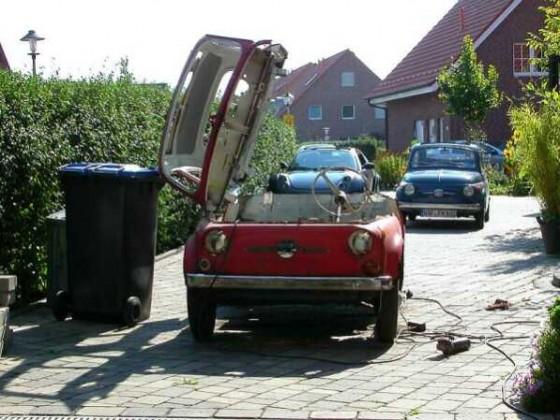 Fiat 500 Kabinenroller.