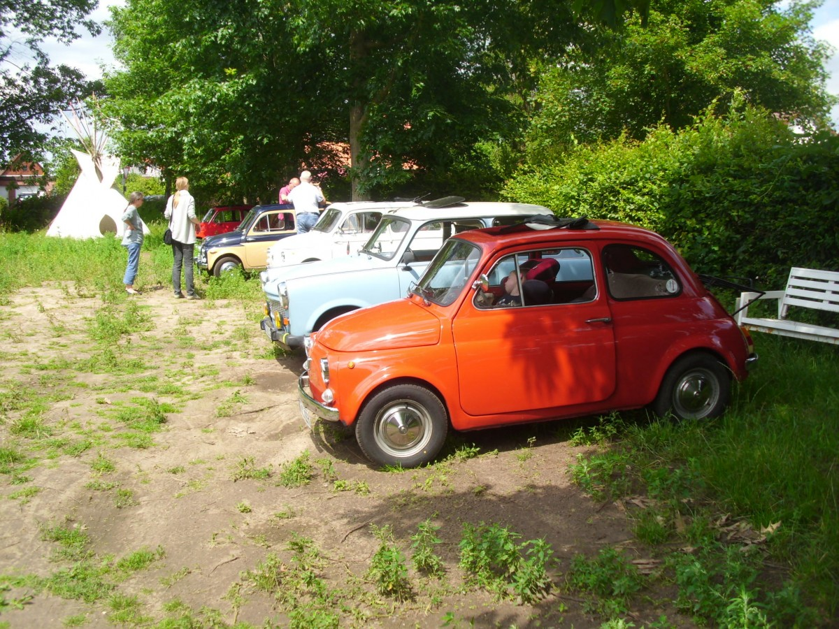 Ausfahrt Fiat 500 / 126 Treffen Museum Neuenknick