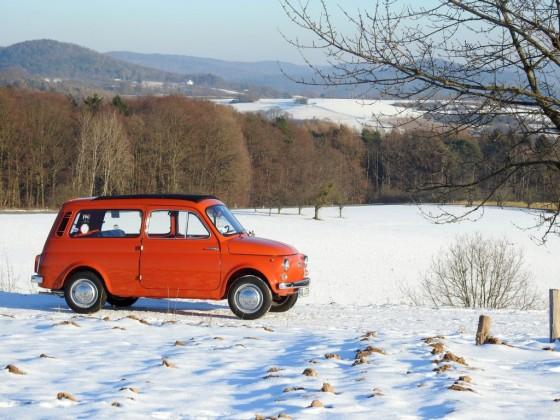 Autobianchi Giardiniera im Winter