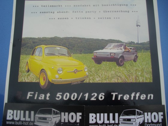 Fiat 500 / 126 treffen vom 17,-19.06.2016 in 32469 Neuenknick