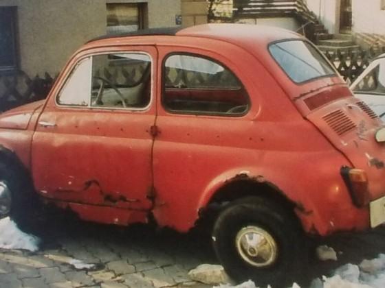 mein Fiat 500 D-Schrott