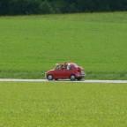 Mein Fiat auf dem Weg zum Alteisentreffen in Möttlingen.