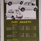 Fiat Abarth Verkaufsplakat aus den 60er Jahren